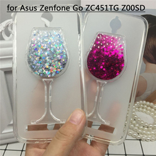 Buy Glitter Quicksand Phone Cases Asus Zenfone Go ZC451TG Z00SD Case Bling Cute Srtars Soft Silicon Back Cover 3D Capa Fundas for $4.47 in AliExpress store