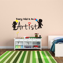 "2016 New Hot Kids Wall Sticker ""Every Child Is An Artist "" DIY Home Decor Playroom Decals Nursery Wall Art Odor-free Environment"