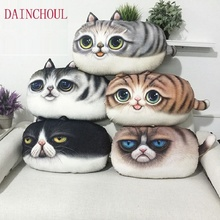 55×32 cm Large Size 3D Cute Cat Emoji Cushion Creative Cartoon Sofa Office Nap Pillow Washable Pillow Car Seat Cushions