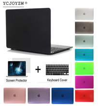 YCJOYZW Laptop Case For Apple MacBook Air Pro Retina 11 12 13 15 for mac book New Pro 13 15 inch with Touch Bar+ Keyboard Cover(China)
