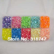 SALE! 4mm 7000pcs Mix Color crystal candy stone resin gems Beautiful decoration and DIY nail art 007001 (13)