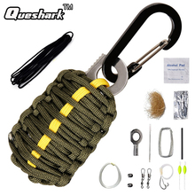 Queshark 15 1 Survival Kits Emergency Rescue Buckle EDC Gear Carabiner Grenade 550 Paracord Outdoor Camping Fishing Tools Kit - Rattlesnake Ballistic Store store