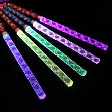 1Pc 26cm Crystal Light Stick Led Concert Glow Stick Colorful Plastic Flash Light Cheer Electronic Magic Wand Christmas Toys K3(China)