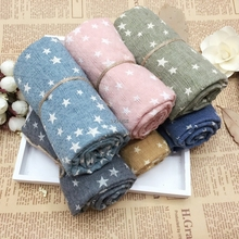 New Children Fall And Winter Comfortable Soft Scarf Star Baby Cute Girl Scarves(China)