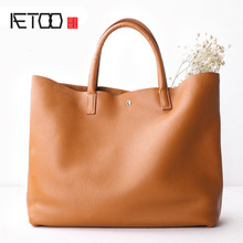AETOO Bag 2017 new handbag large package Tote bag leather shoulder bag simple tote large capacity original female bag(China)