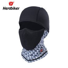 HEROBIKER Motorcycle Face Mask UV Protection Balaclava Moto Neck Full Face Mask Dustproof Airsoft Paintball Tactical Helmet Mask(China)