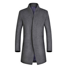 Man Overcoat Long High Quality Drop Shipping Mens Winter Business Casual Fleece Woolen Male Slim Men Wool Coat