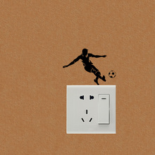 Stylish Football Player Fashion Switch Stickers Vinyl Wall Decals 5WS0729