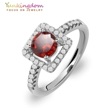 Jewelry Anel Feminino Classic Wedding Rings for Women Gold white Gold color Red  synthetic gemstone Stones jewelry
