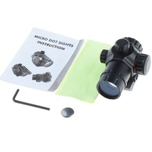 1X 20 Red Green Dot Sight Riflescope Hunting Optics Scope Reflex Lens Riflescope + Allen Wrench + CR1620 battery T28