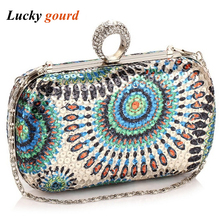 New 2017 Fashion Technology Hand Bag New Women's Bag Han Edition Bag Dinner Will Handbag Color Package More Bride Big Red Z554