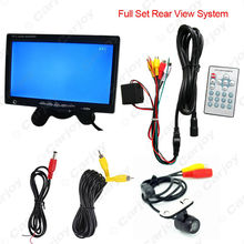 "DC12V 7"" Headrest Standalone TFT LCD Monitor With 16.5mm CCD Camera Car Rear View System #CA3754"