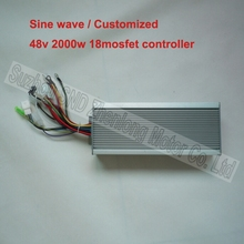 48V 2000W 18 mosfet motor brushless sinusoidal wave controller for electric bike/ hub motor quiet controller G-K124