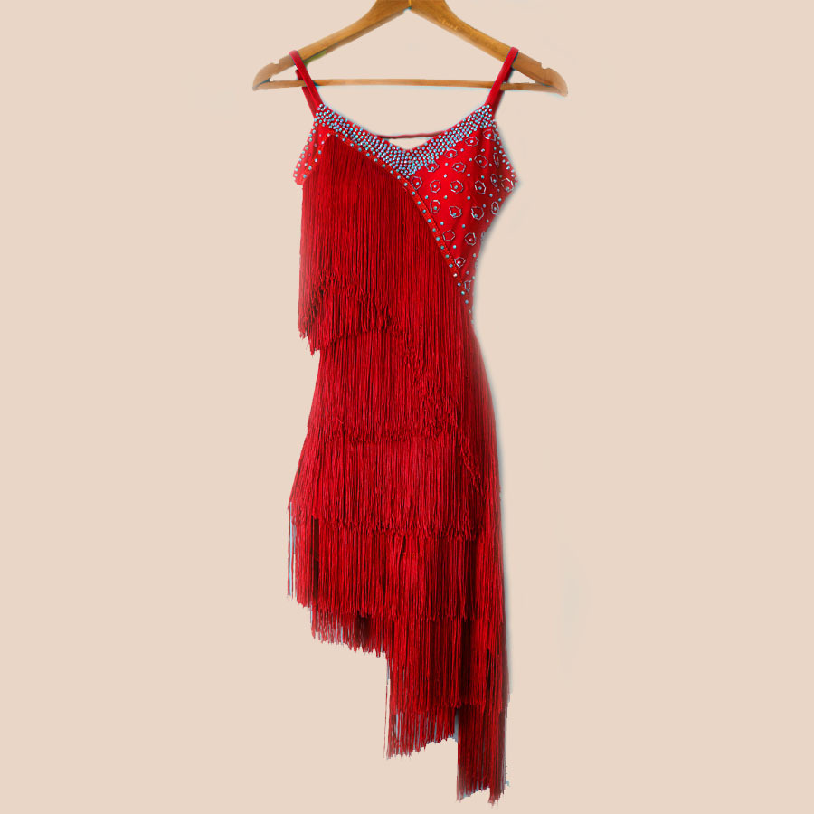 New style latin dance costume sexy tassel latin dance competition dress for women child latin dance dresses S-4XL F21