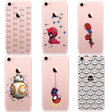 R2D2 STAR WARS Droid Robot soft TPU Pattern Cases Cover For Iphone 7 7Plus 6 6s SE 5 5S Case Cartoon Harry potter back cover
