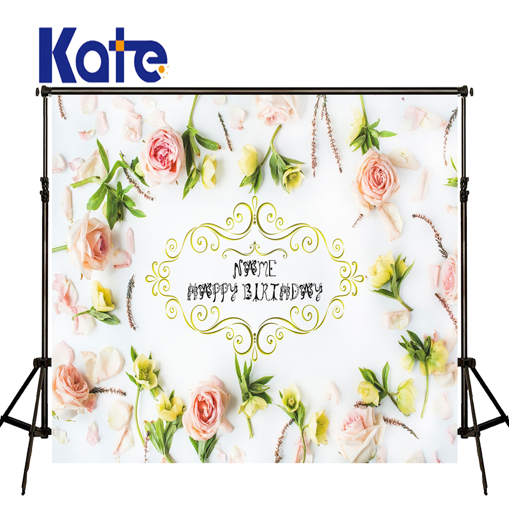 KATE Photography Backdrops 10X10Ft Wedding Backdrops Custom Photo Backdrops Photo Flowers Background White Wedding Photocall<br>