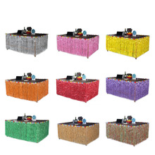 Colorful Flower Hawaiian Luau Tropical Party Table Decoration Grass Skirt Summer Beach Parties Decoration(China)