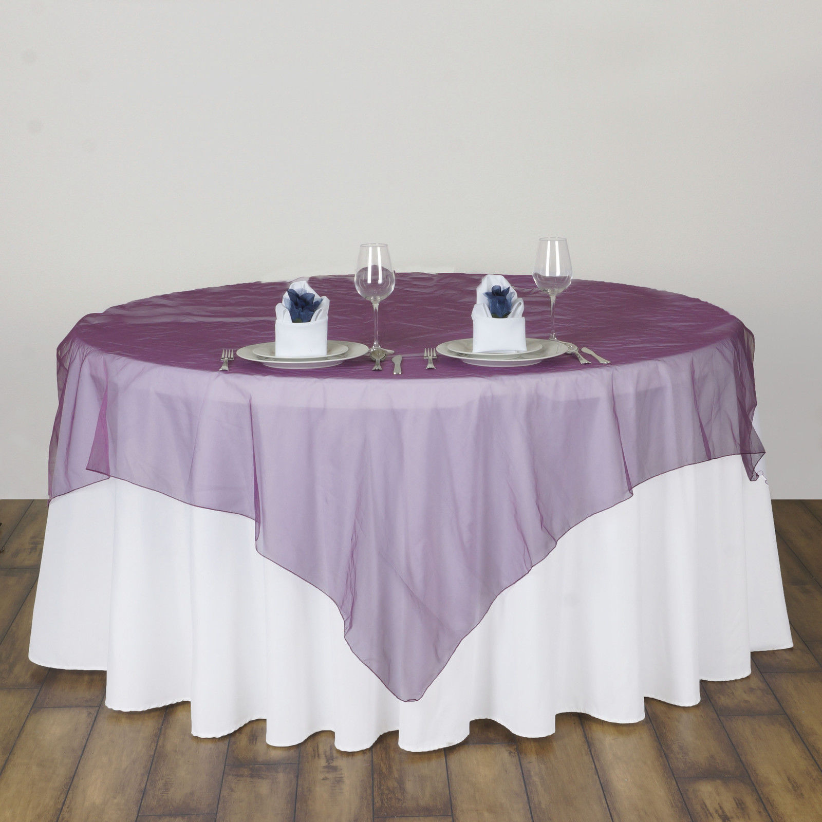 135x135cm Modern square Organza Tablecloth Dining Coffee Table Cloth Cover dustproof Wedding Banquet Hotel Decoration Overlay(China (Mainland))
