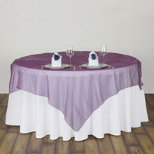 135x135cm Modern square Organza Tablecloth Dining Coffee Table Cloth Cover dustproof Wedding Banquet Hotel Decoration Overlay(China)