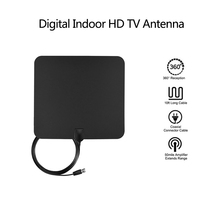 Indoor HD TV Antenna Digital Signal Booster Upgraded Version With 300CM Cable 1080p HD 50 Miles Range(China)