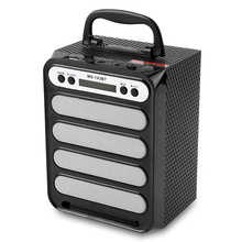 MS - 143BT Portable Wireless Handheld Speaker Bluetooth Outdoor Loundspeaker Support TF Card / AUX / USB with Colorful Light