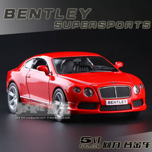 New RMZ city Bentley Continental GT V8 Model Car 1:36 5inch Diecast Metal Cars Toy Pull Back Kids Gift Free Shipping