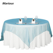 New arrival crystal organza table overlay for wedding decoration(China)