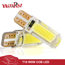 1x New Car LED T10 194 W5W COB+Silicone shell LED Lights Car Side Wedge Light Lamp Bulb White/Blue/Red/Pink Car-styling