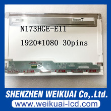 "Free shipping N173HGE-E11 17.3"" LED LCD Screen Fit B173HTN01.1 1920x1080 HD Display eDP 30Pin"