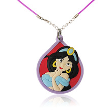 1PCS Princess Sofia Doc McStuffins Cartoon PVC Pendants+51cm Necklaces Rope Chain Necklaces Party Gift Fashion Jewelry(China)