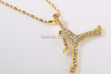 20pcs/lot Wholesale Fashion Gold/Silver Charm Jordan Necklace High Quality Men Jewelry Hot 2014,original factory supply