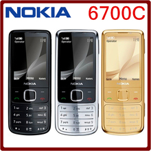 6700C Original Nokia 6700 Classic Gold Cell Phone Unlocked GPS 5MP 6700c Russian  or Arabic Keyboard Free Shipping
