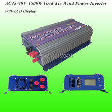 2017 Hot Selling 1500W Three Phase AC45V~90V Input, AC 230V Output SUN-1500G-WAL-LCD-48V Grid Tie Wind Power Inverter