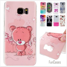 Silicone Soft TPU IMD Rubber Cases For Samsung Galaxy S7 Edge G9350 Cute Bear Owl Cartoon Plastic Phone Protective cover