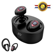XIAOWU K5 in-ear earphone wireless bluetooth earbuds handsfree headset with mic/ear hook /charging box for iphone 8/ android(China)