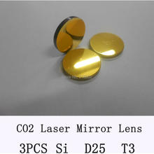 RAY OPTICS-Si Mirror Diameter 25mm Co2 Laser Mirror lens for laser cutting part 3pcs/lot