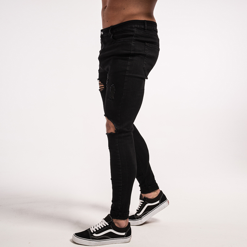 -mens-skinny-jeans-black-ripped-stretch-ripped-repaired-zm25-8