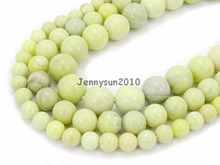 Natural Australia Butter Jas-per Gems Stones Round Spacer Loose Beads 15.5'' Strand for Jewelry Making Crafts 5 Strands/Pack(China)
