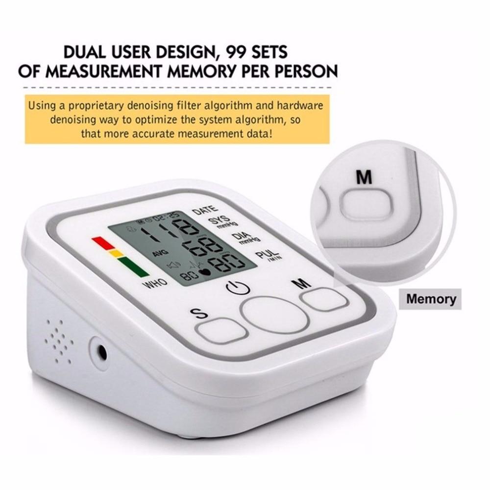Arm Type Electric Voice Tonometer Meter Health Care 99 Memory Blood Pressure Monitor Pulse Oximeter Household Sphygmomanometer 11