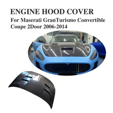 Carbon Fiber Auto Engine Hood cover Cap For Maserati GranTurismo Convertible Coupe 2Door 2006-2014 Car Tuning Parts(China)