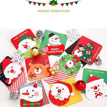 3 pcs/lot Creative different shape Christmas theme small card Christmas New Year greeting message card Gift cards with envelope