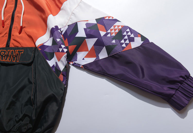 Color Block Patchwork Hooded Jackets 5