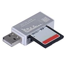 USB 2.0 All In 1 Multi Memory Card Reader kart okuyucu For T-Flash Micro SD Micro SDHC Free Shipping(China)
