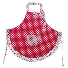 Cute Kids Children Kitchen Sweety Red Cooking Craft Bib New Oversleeve Kerchief Cotton Dot Pattern Dress Pocket 1Set(China)