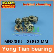 Molybdenum steel wire cutting through the wire guide wheels corrective straight WITH V / U-groove bearings MR83UU 3*8*3 mm