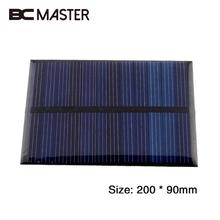 12V 2.5W Polycrystalline Solar Panel Solar Cell Module DIY Solar Charger Camping Professional Lamp Lighting 200*90mm Traveling