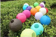 Chinese Paper Lantern 500 Pcs 8 inch 20 cm Round Paper Lanterns Wedding Decorations Hang Lamp DIY Party Deco Cheap