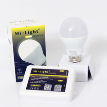 Original 2.4G Wireless WiFi iOS Android Phone Control E27 6W 2700-6500K Dual White Cool/Warm White Smart Mi Light CCT LED Bulb
