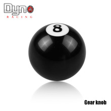 8 Ball Gear Knob / Short shifter Knob For Universal Car Acrylic BLACK