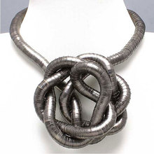 High quality wholesale black iron bendable flexible snake necklace 5mm,90cm,10pcs/pack